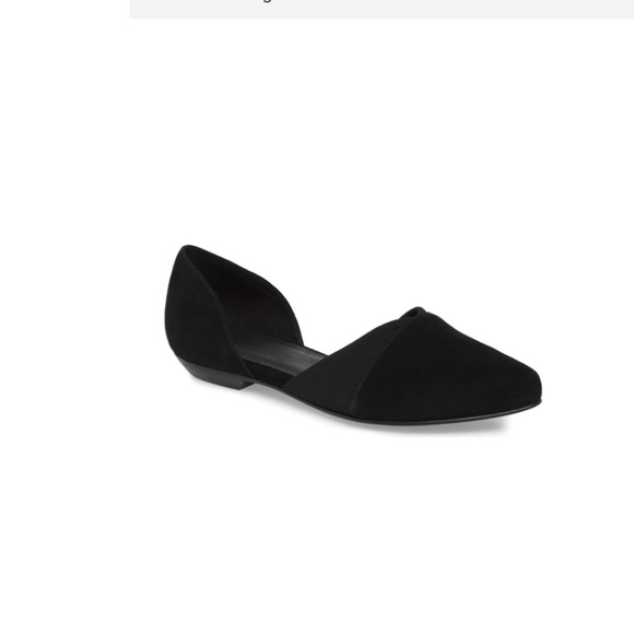 Eileen Fisher Shoes - Eileen Fisher🔴pointy toe Suede leather flats 9.5